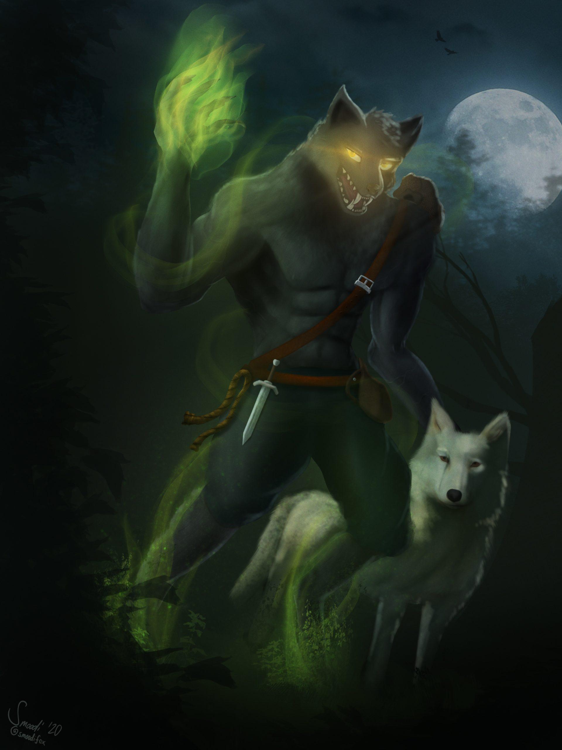 DnD werewolf character (October 2020)